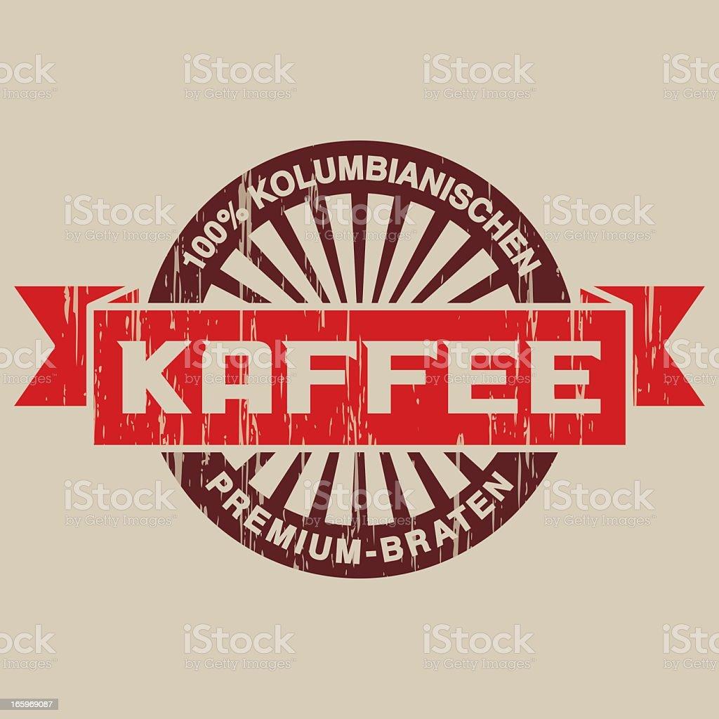 Vintage Caf? Label (German) royalty-free stock vector art