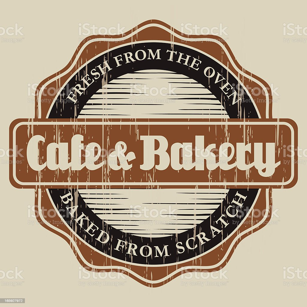Vintage Cafe & Bakery Label royalty-free stock vector art