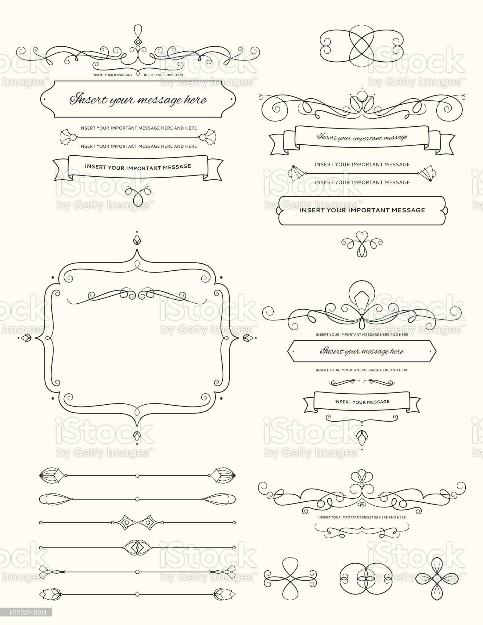 Vintage Calligraphy Design Elements Two royalty-free stock vector art