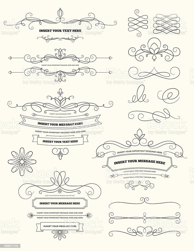 Vintage Calligraphy Design Elements vector art illustration