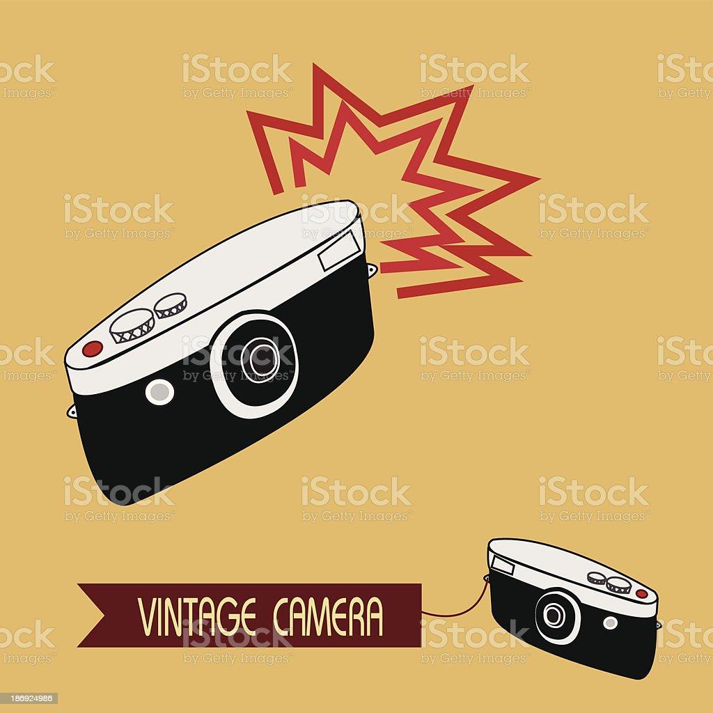 Vintage camera royalty-free stock vector art