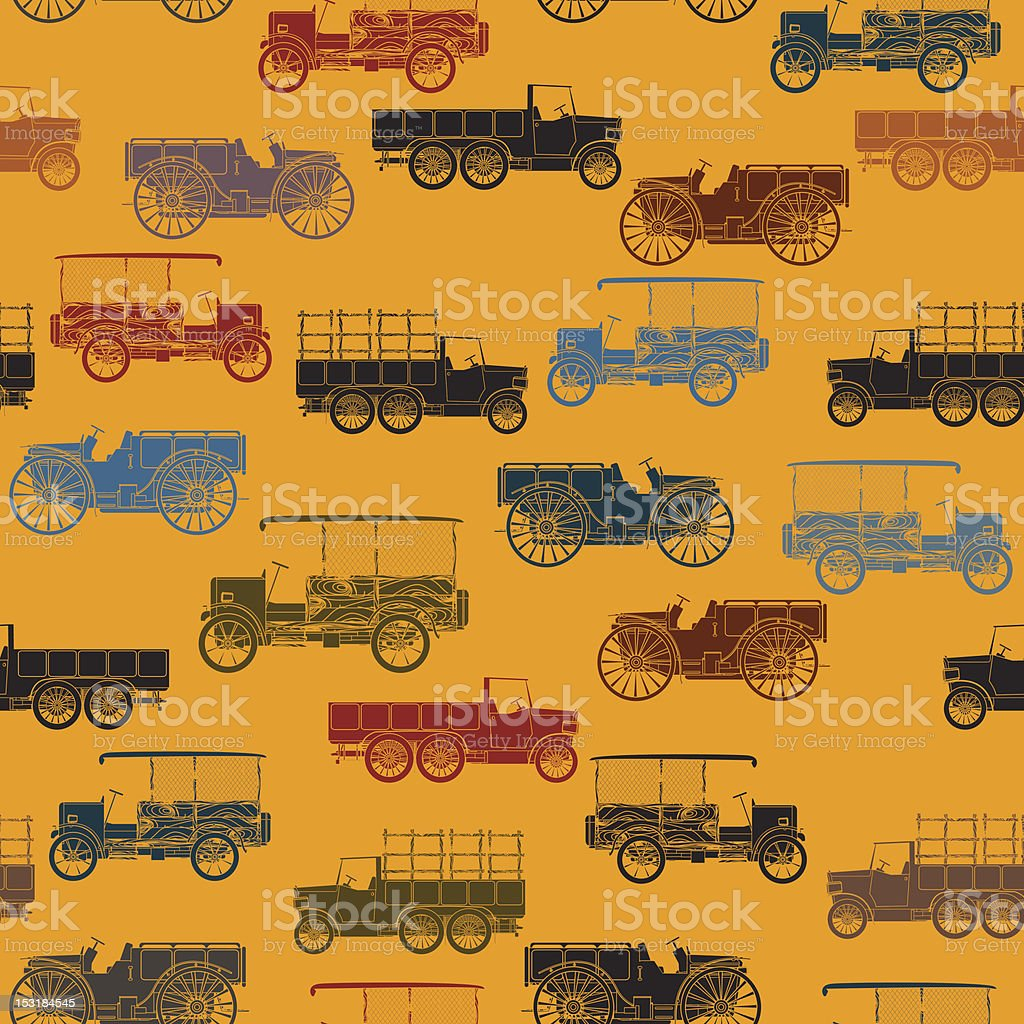 Vintage car pattern royalty-free stock vector art