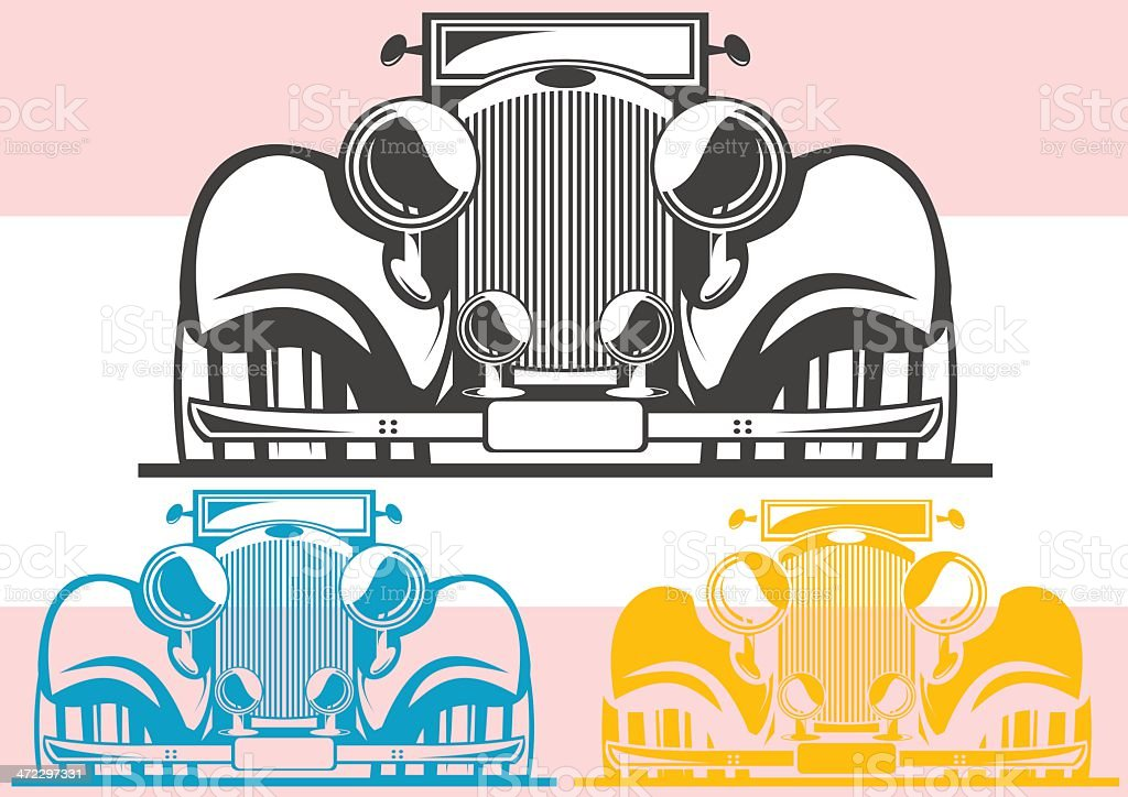 Vintage car royalty-free stock vector art