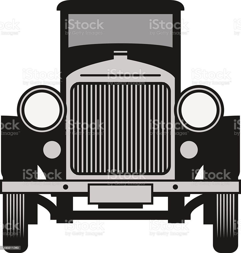 Vintage car, vector illustration vector art illustration