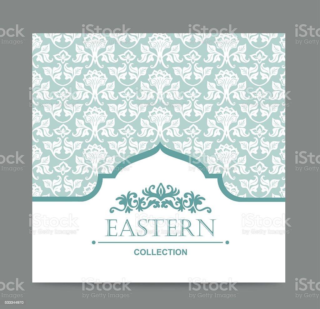 Vintage card design for greeting card, invitation, menu. Retro background. vector art illustration