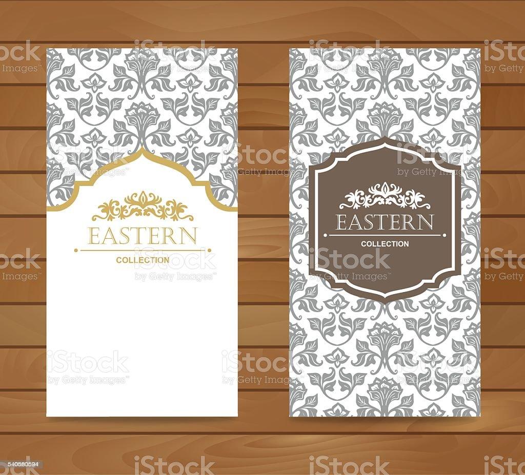 Vintage card design for greeting card, invitation,banner. vector art illustration
