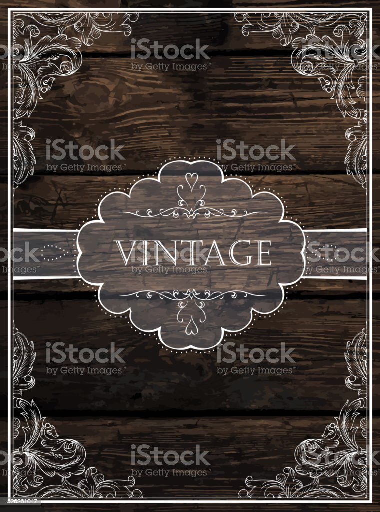 Vintage Card Design. Vector vector art illustration