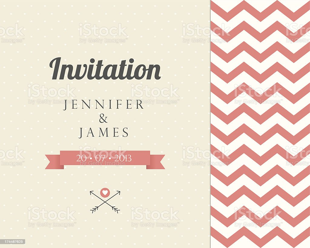 Vintage card, for invitation or announcement royalty-free stock vector art