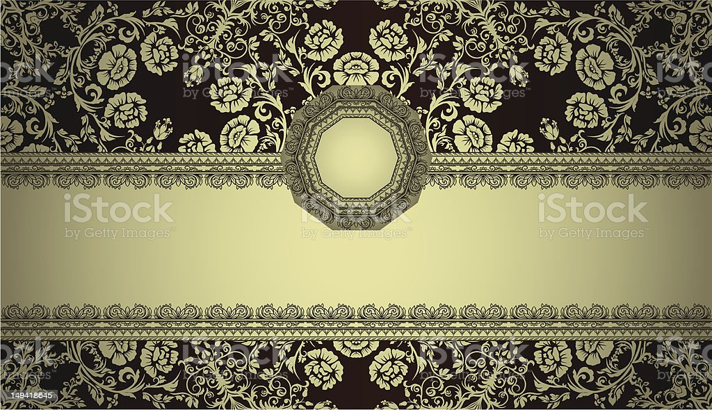 Vintage card or frame on seamless background royalty-free stock vector art