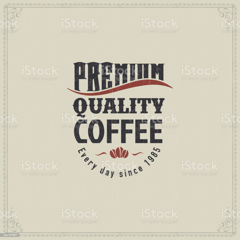 Vintage Card with coffee royalty-free stock vector art