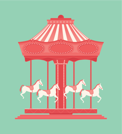Merry Go Round Clip Art, Vector Images & Illustrations ...