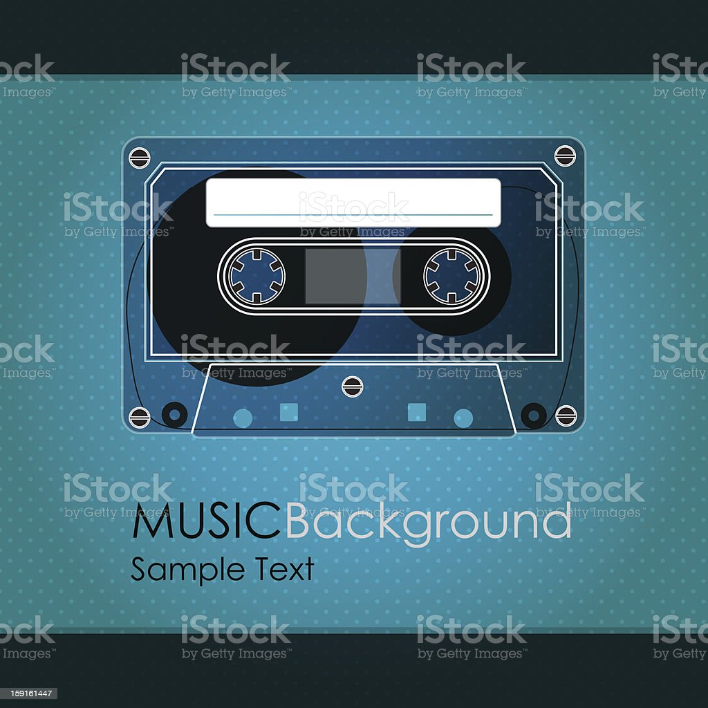 Vintage cassette royalty-free stock vector art