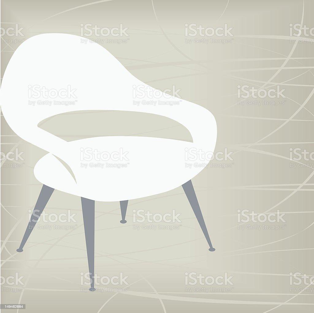 Vintage Chair Icon vector art illustration