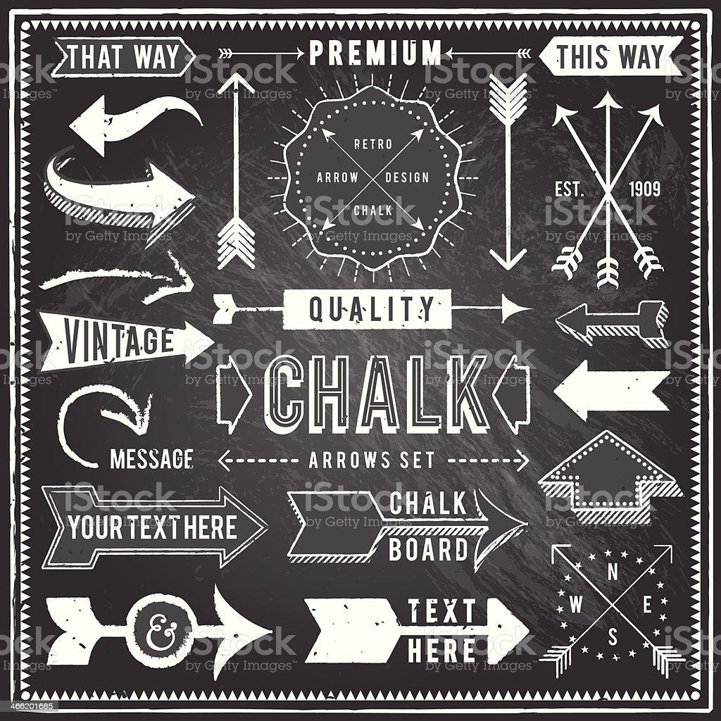 Vintage Chalkboard Arrows royalty-free stock vector art