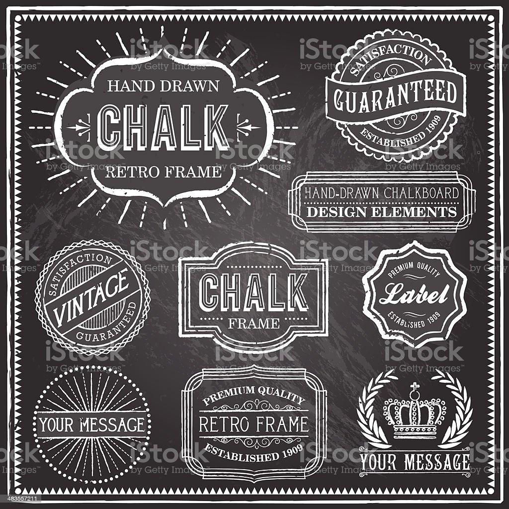 Vintage Chalkboard Frames vector art illustration