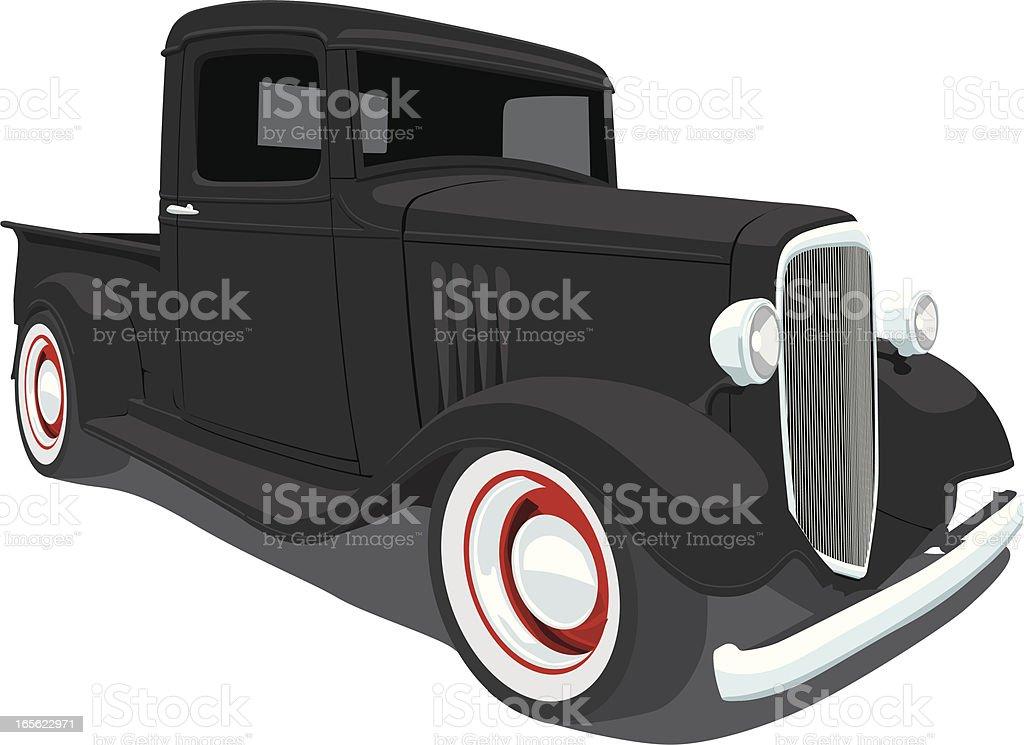 Vintage Chevrolet Pickup Truck royalty-free stock vector art