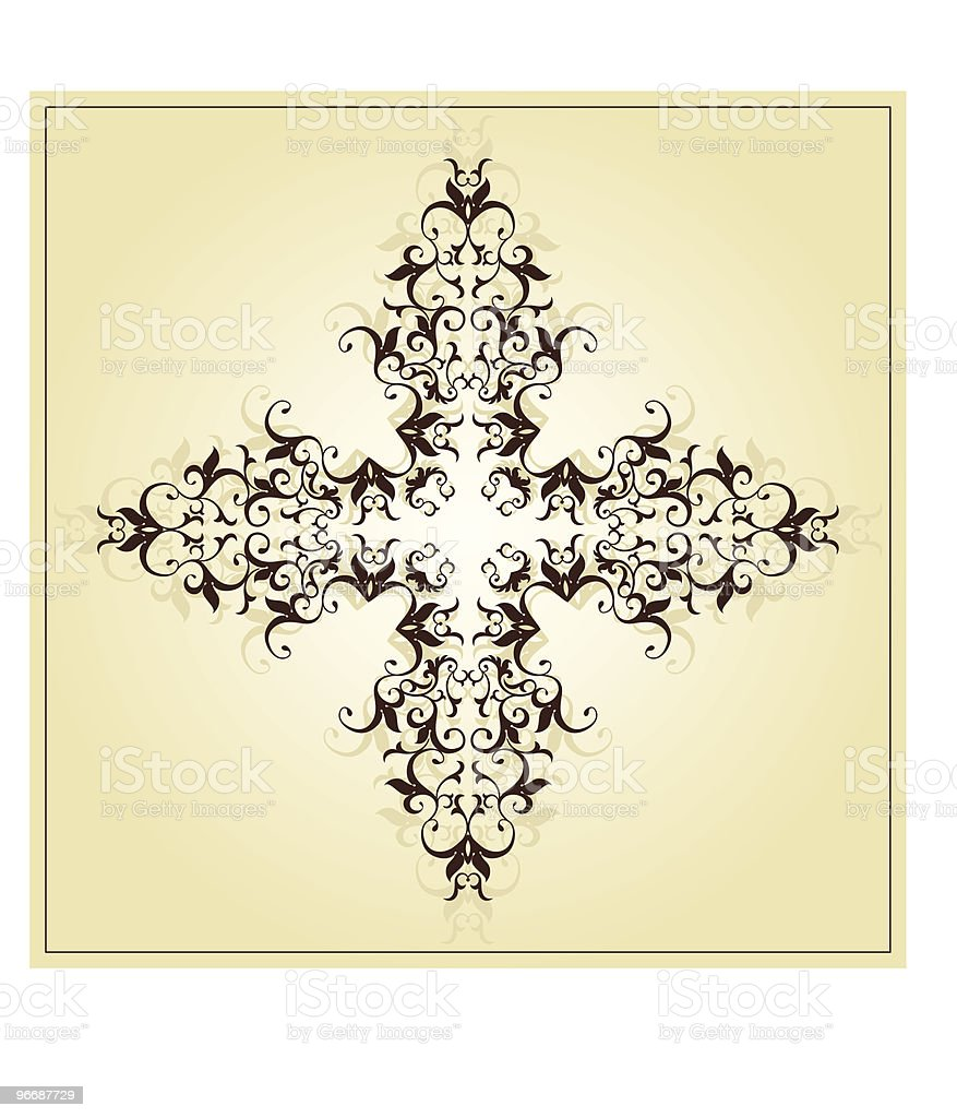 Vintage Christian Cross vector art illustration