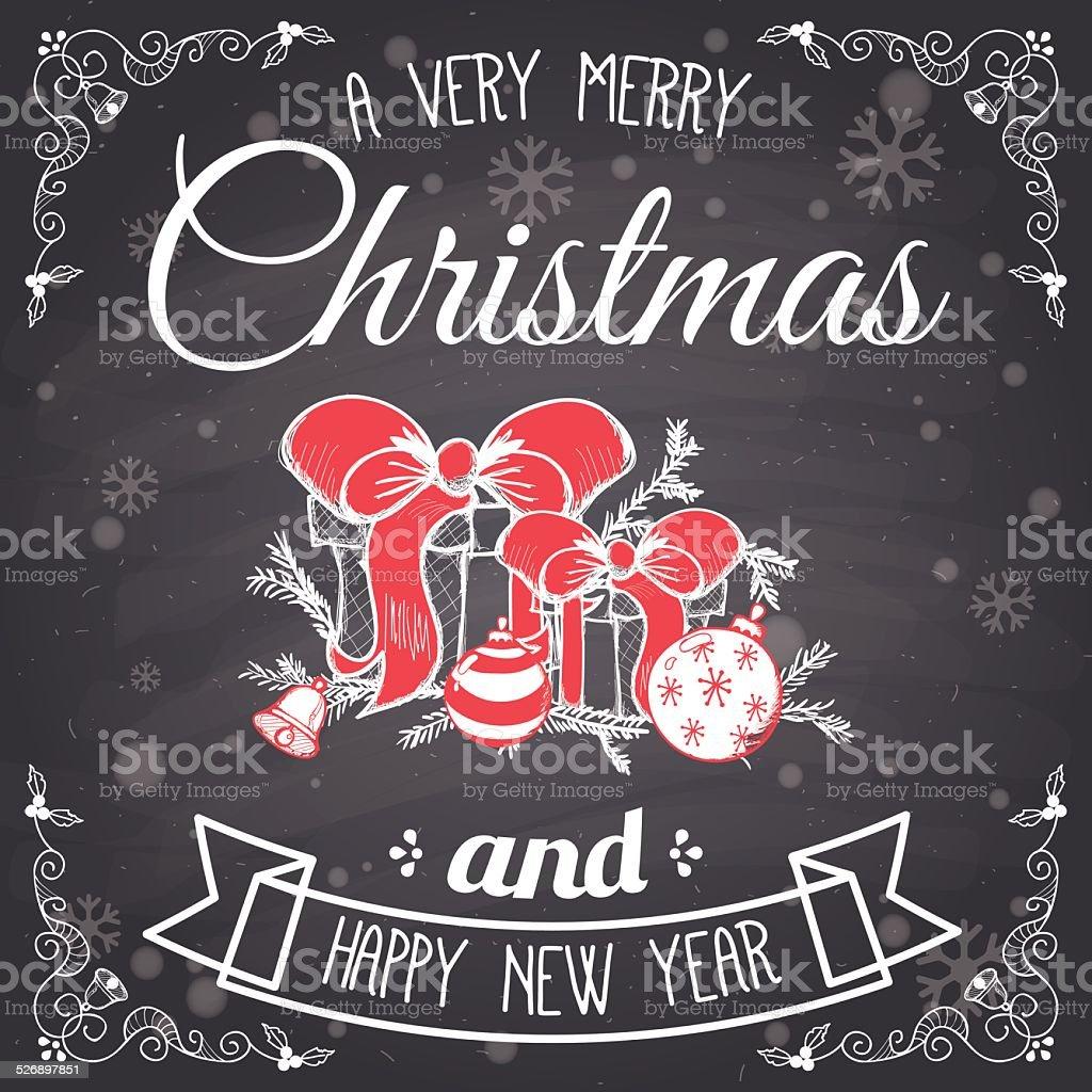 Vintage fond de Noël stock vecteur libres de droits libre de droits