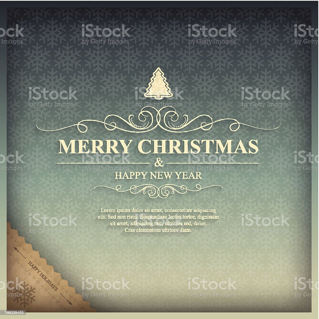 Vintage Christmas card royalty-free stock vector art