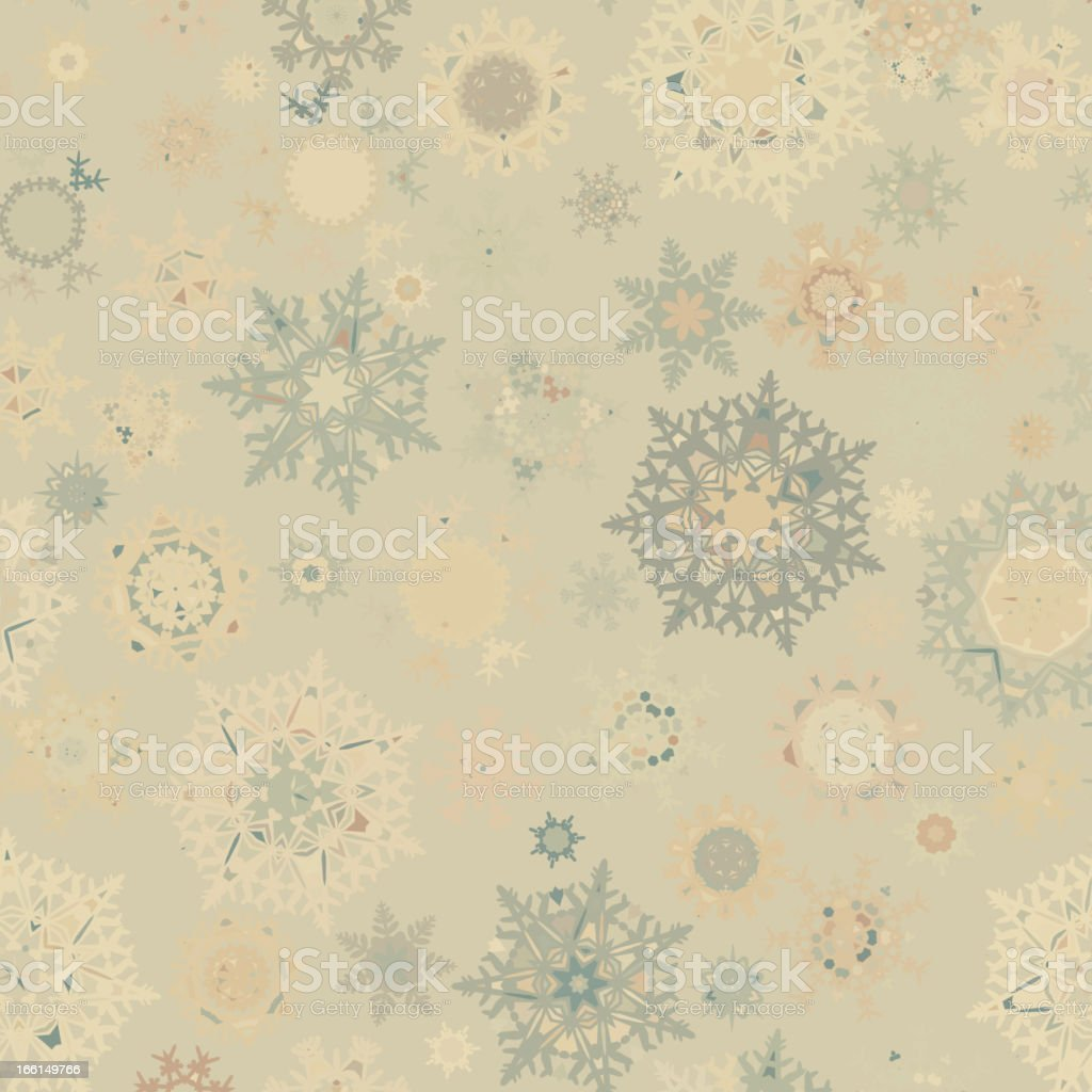 Vintage Christmas card with snowflakes. EPS 8 royalty-free stock vector art