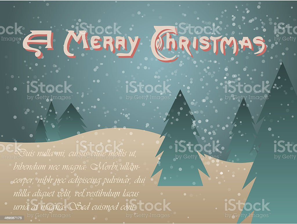Vintage Christmas greetings background royalty-free stock vector art