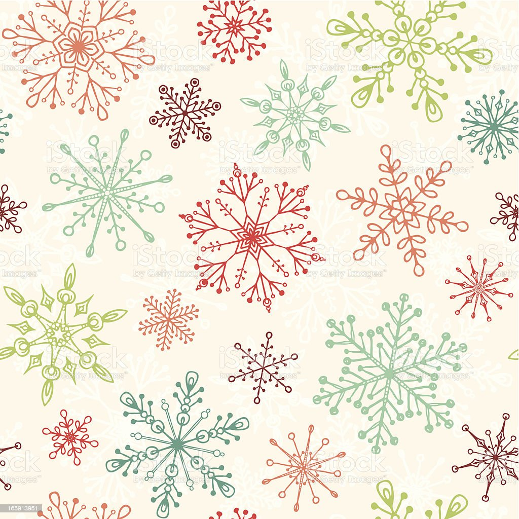 Vintage Christmas Pattern royalty-free stock vector art