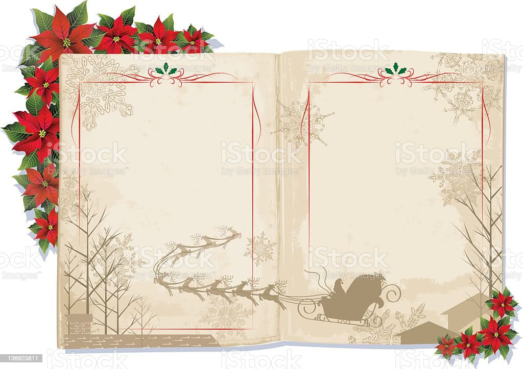 Vintage Christmas Story Book royalty-free stock photo