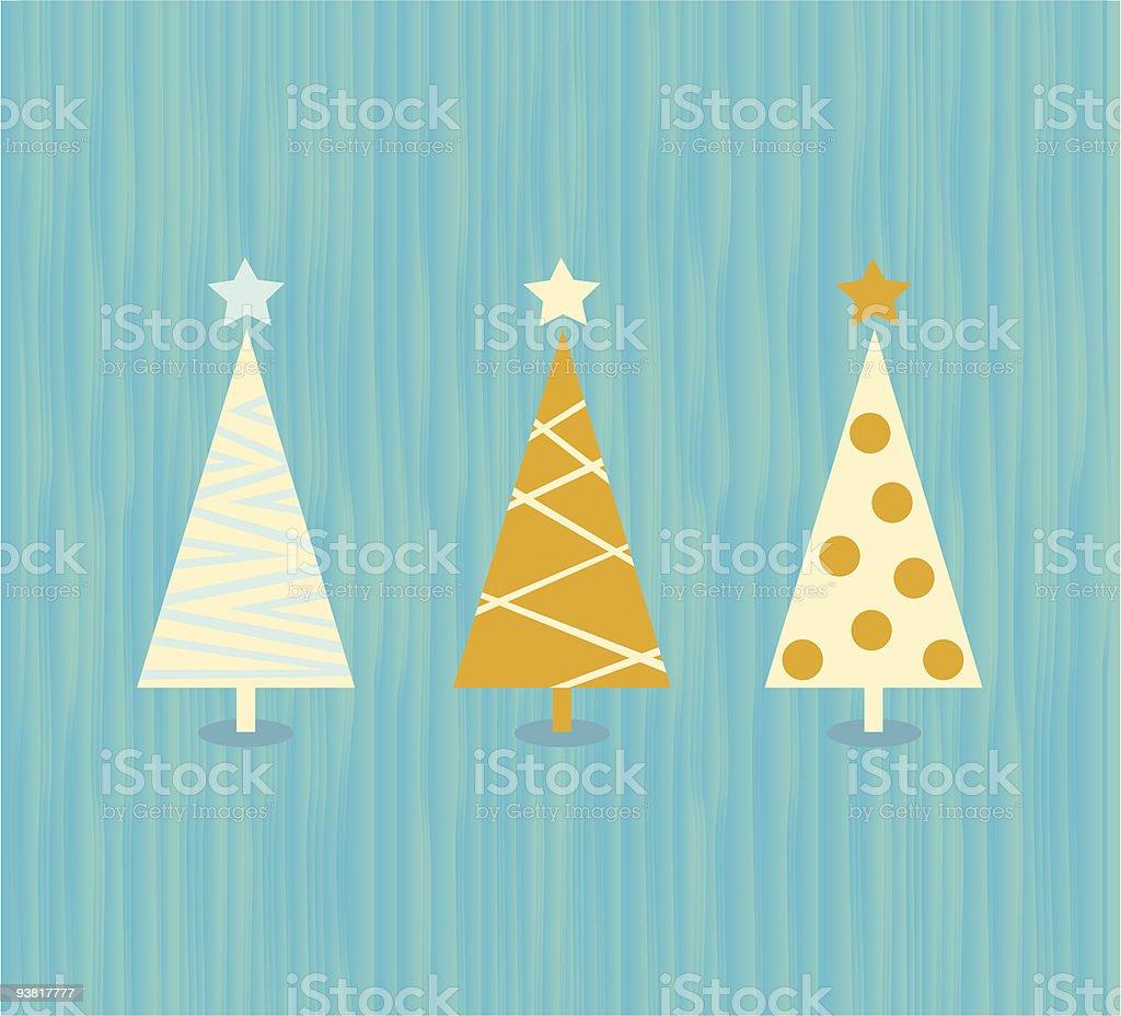 Vintage christmas tree pattern royalty-free stock vector art