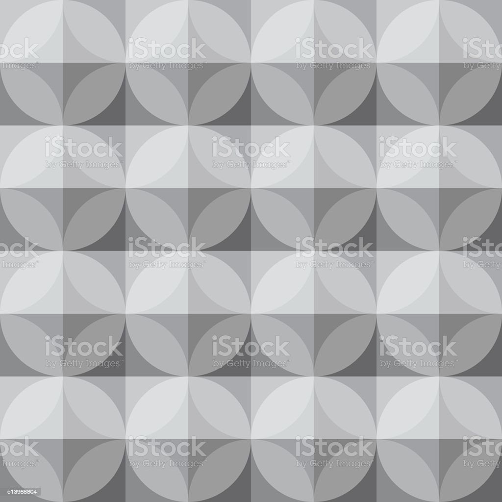Vintage circle and square pattern - Grey Theme vector art illustration