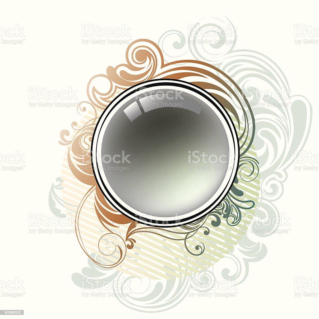 Vintage circle design royalty-free stock vector art