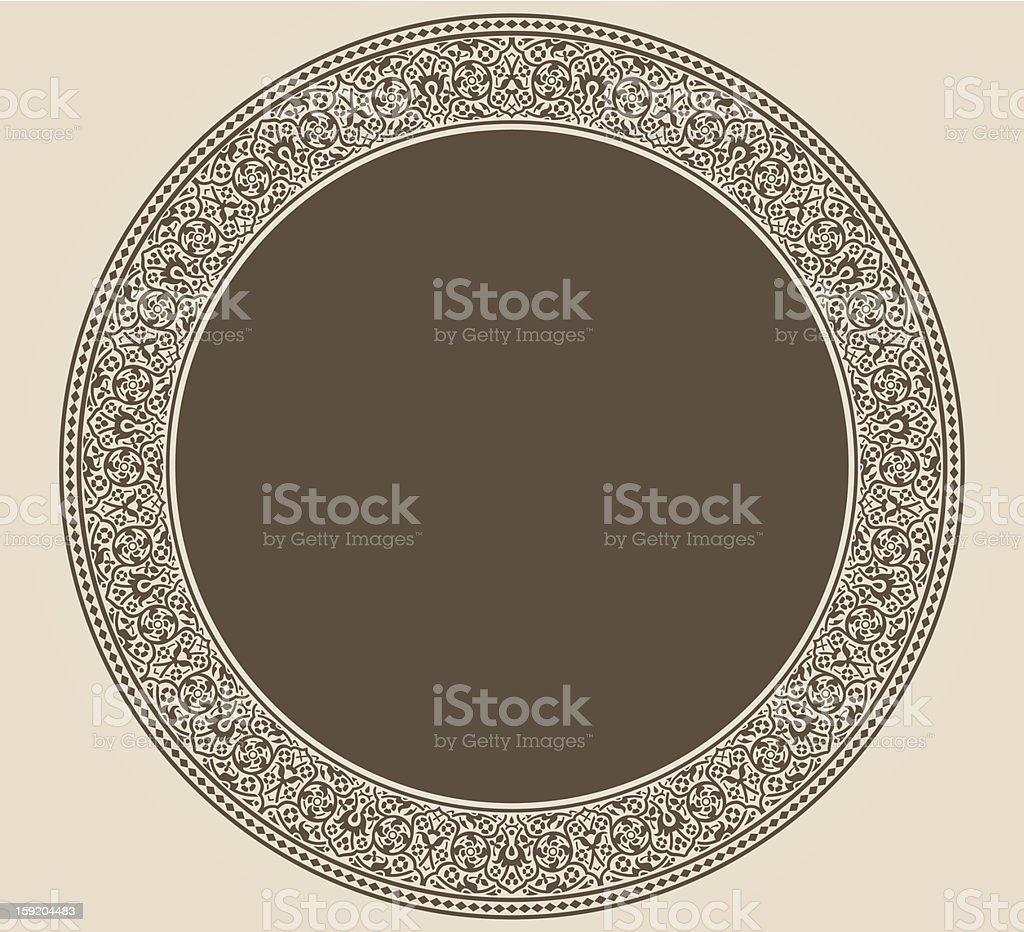 Vintage circle frame royalty-free stock vector art