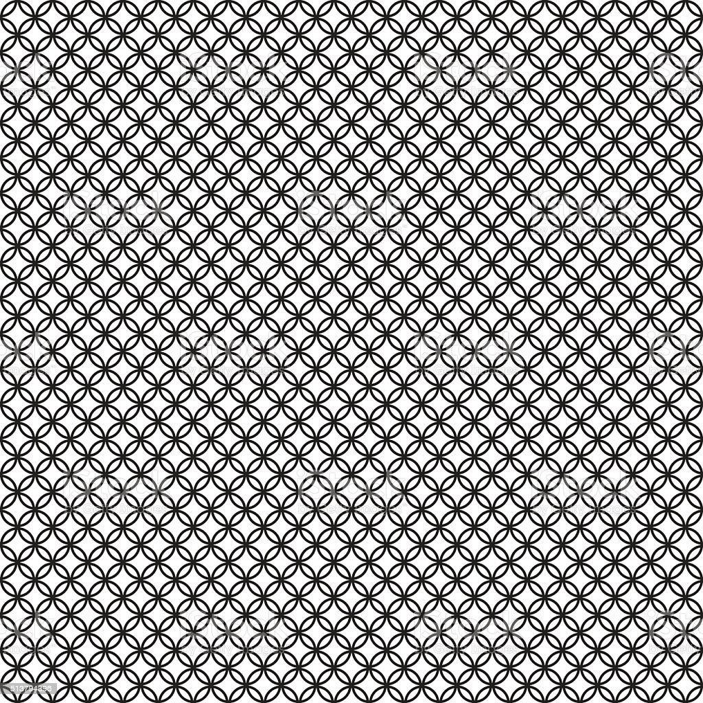 Vintage circle seamless pattern on white background vector art illustration