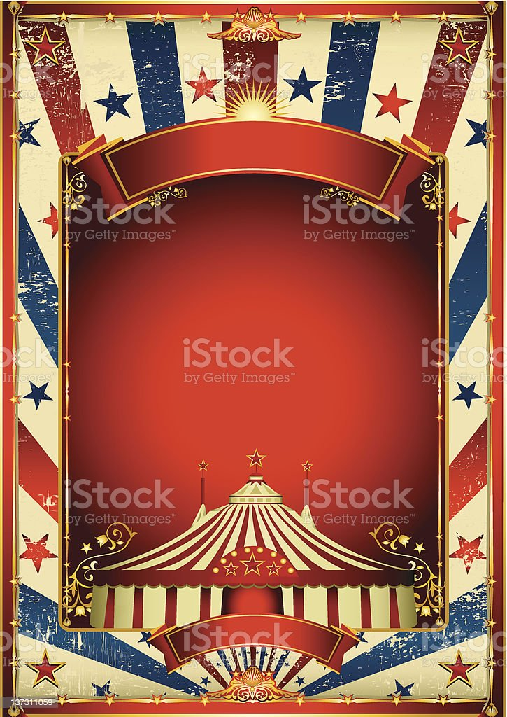Vintage circus background with big top royalty-free stock vector art