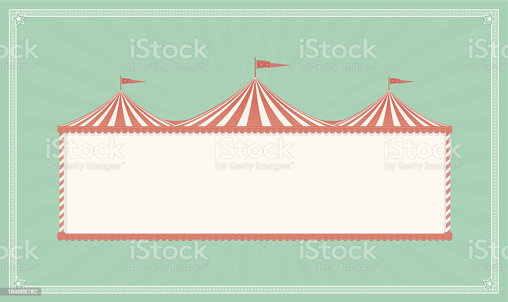 Vintage Circus Sign royalty-free stock vector art