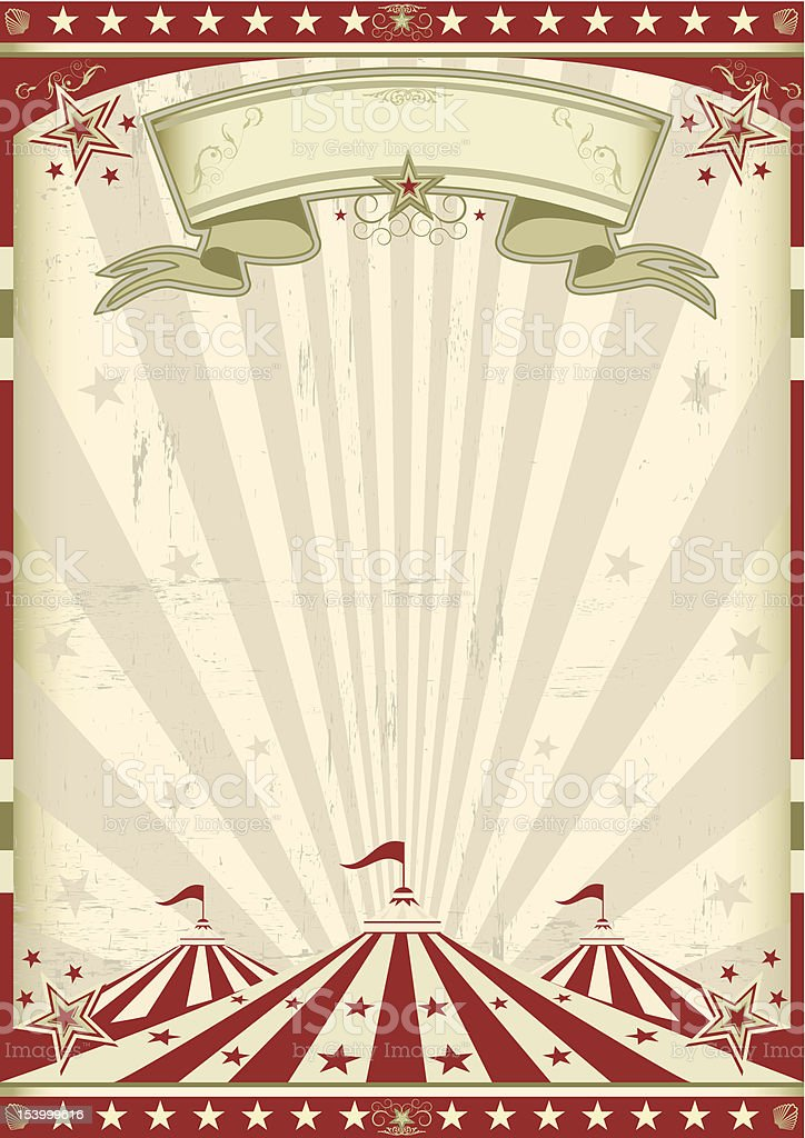 Vintage circus vector art illustration