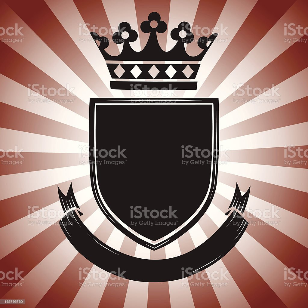 Vintage Coat of Arms royalty-free stock vector art