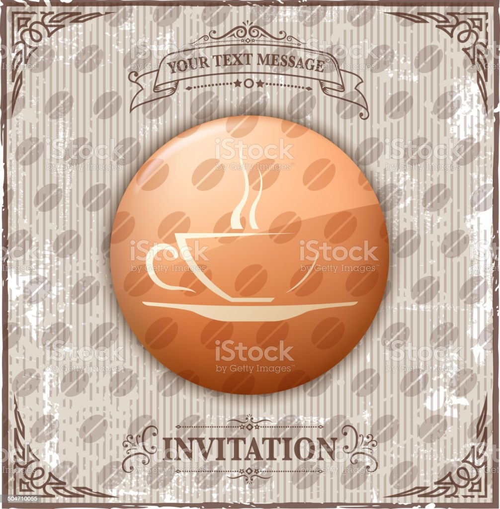 vintage coffee cup iconls royalty-free stock vector art