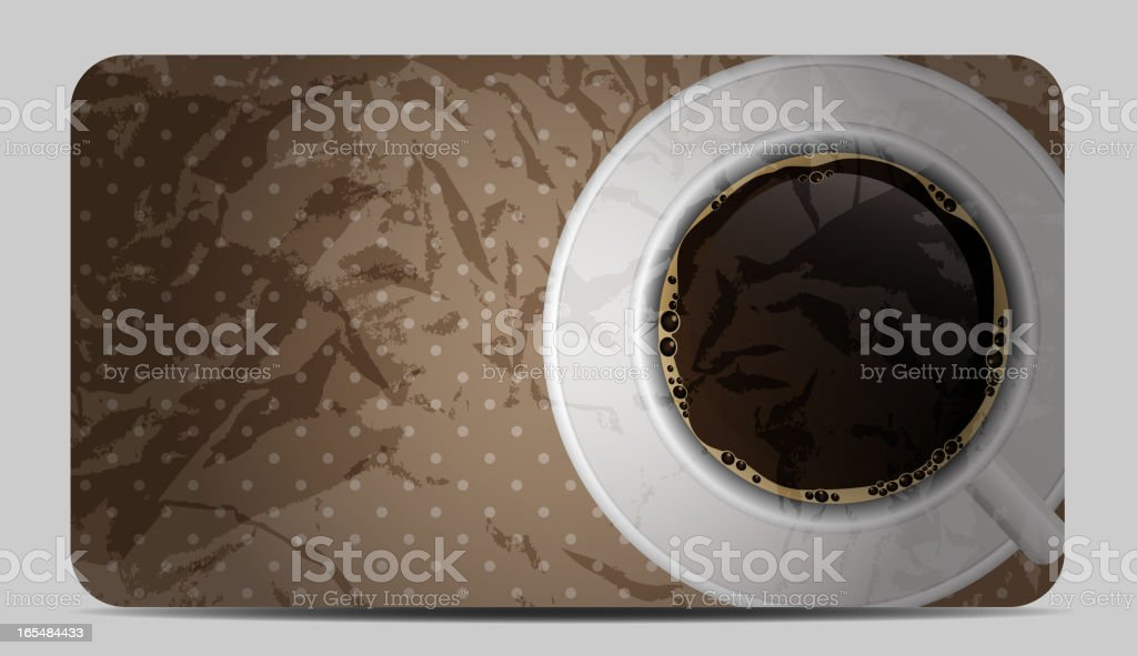 Vintage coffee gift card vector illustration royalty-free stock vector art