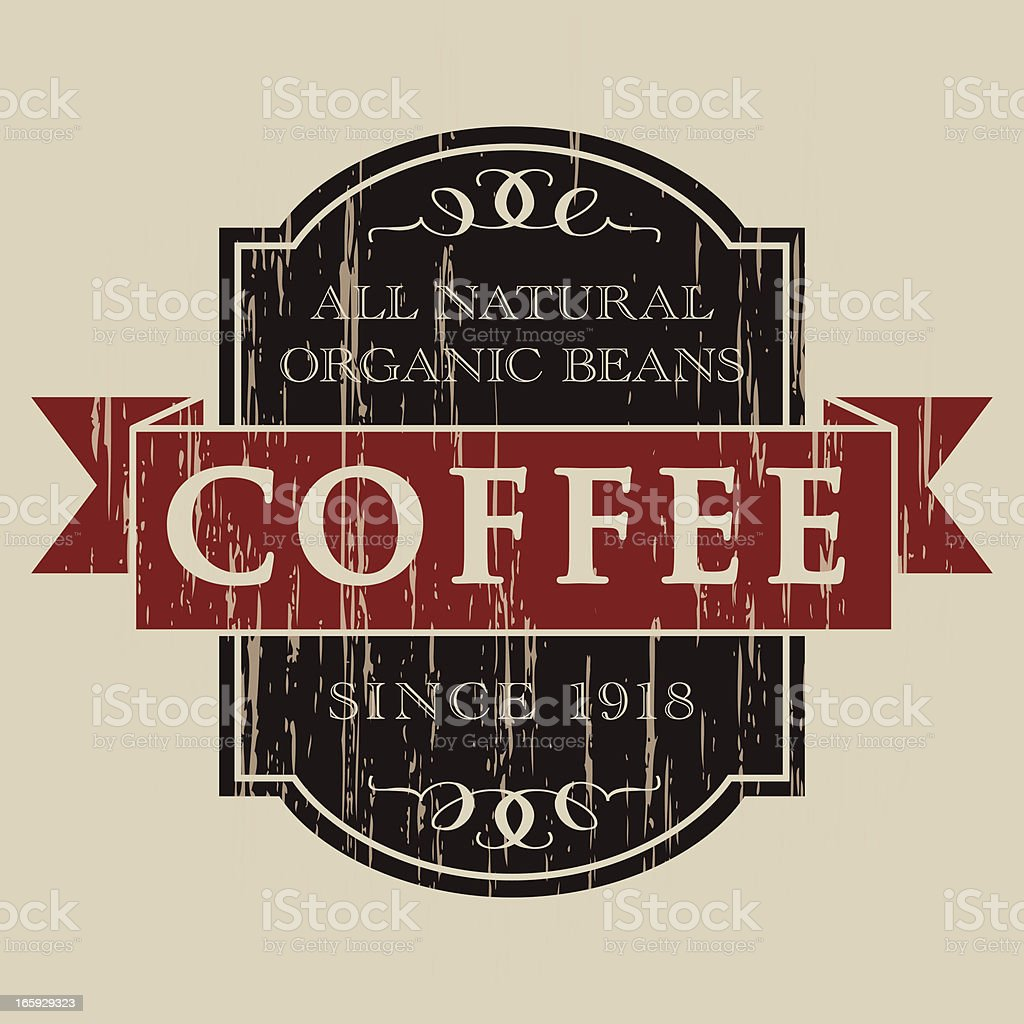 Vintage Coffee Label royalty-free stock vector art