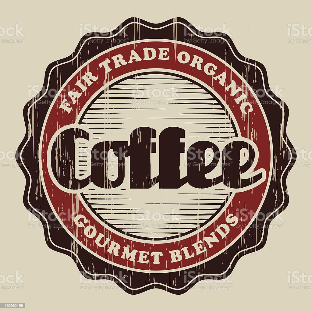 Vintage Coffee Label vector art illustration