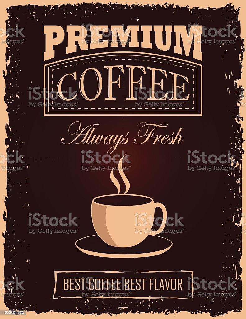 Vintage Coffee Poster vector art illustration