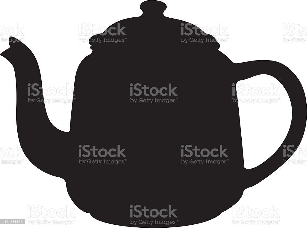 Vintage Coffee Pot Silhouette vector art illustration