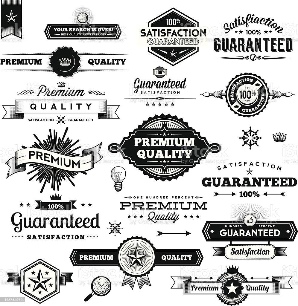 Vintage Commerce Elements - Labels stock photo