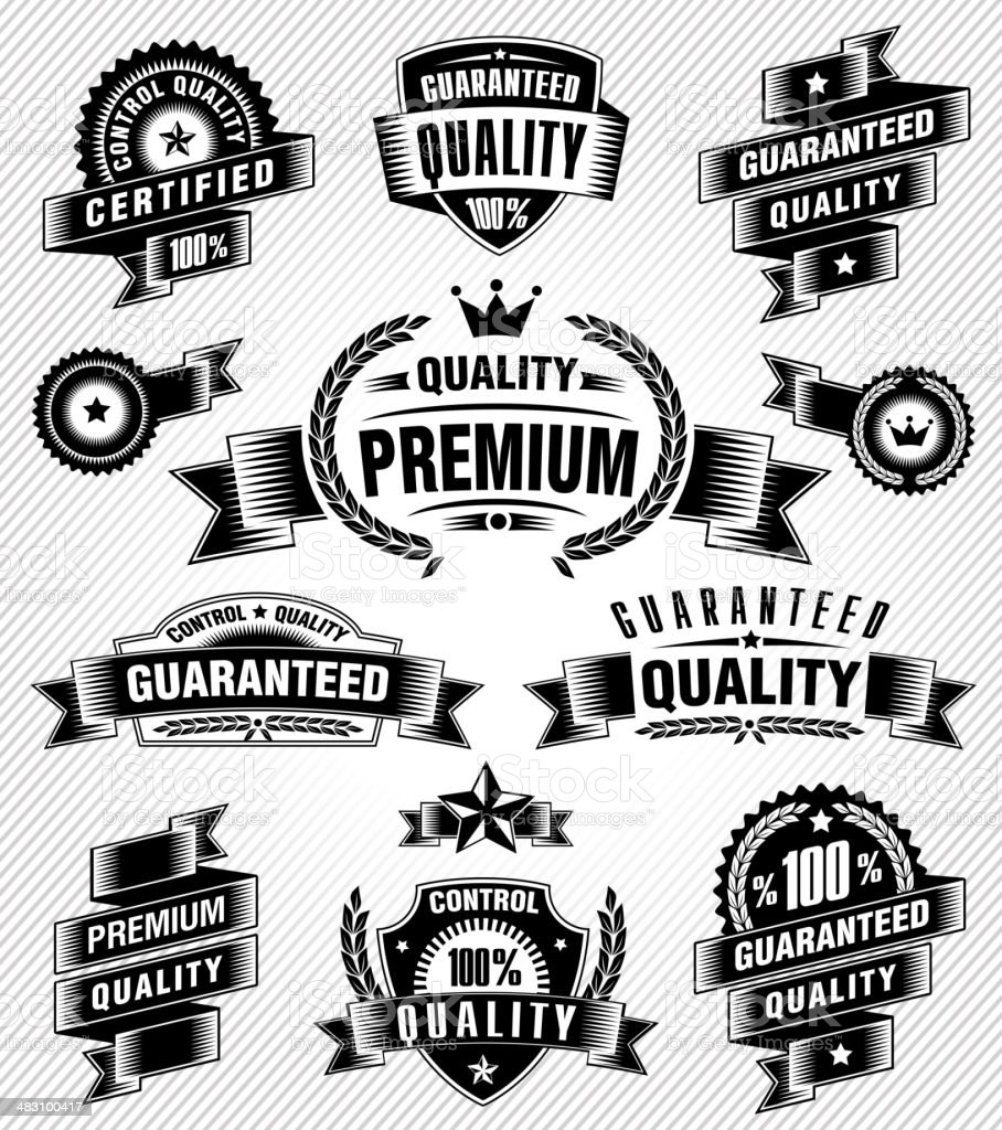 Vintage Commerce Labels royalty-free stock vector art