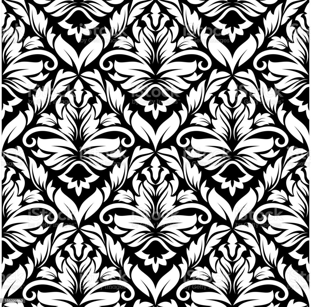 Vintage damask seamless pattern royalty-free stock vector art