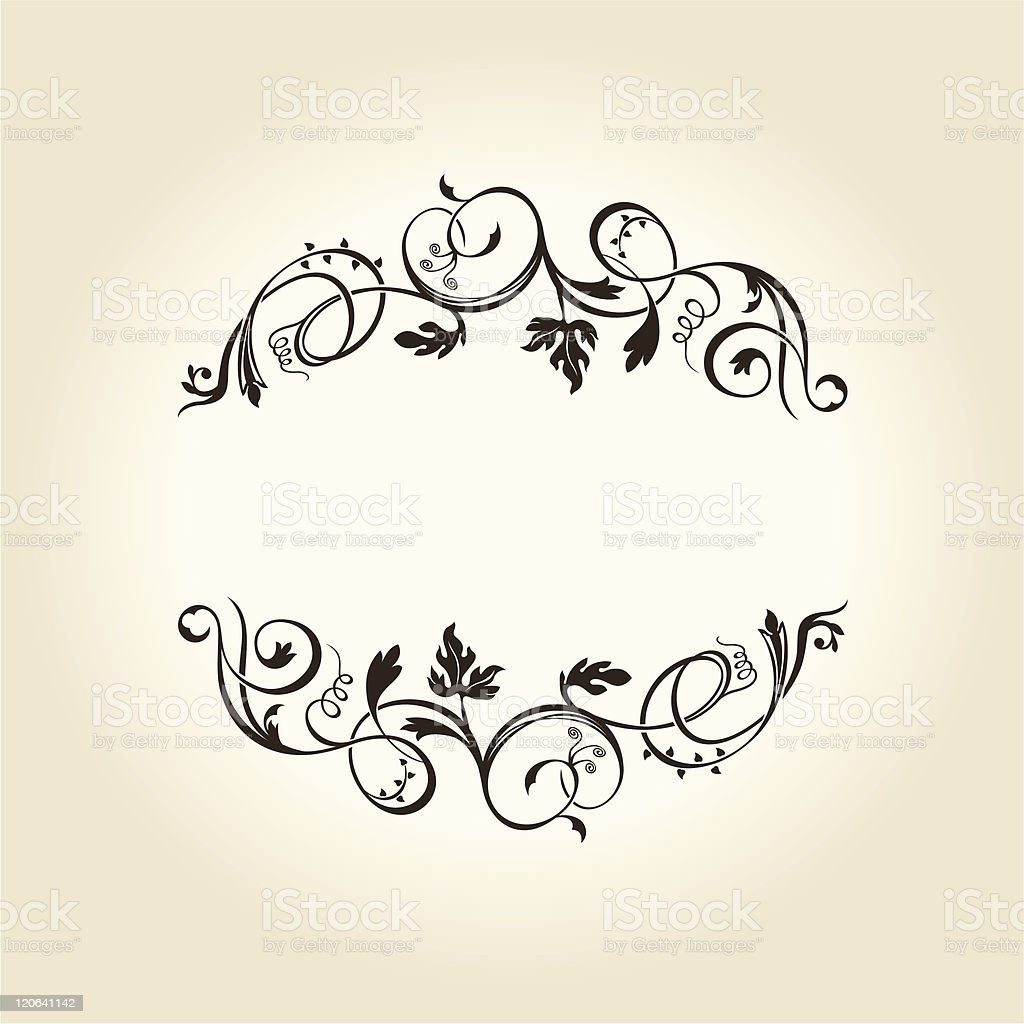 Vintage decor label ornament design emblem Vector royalty-free stock vector art