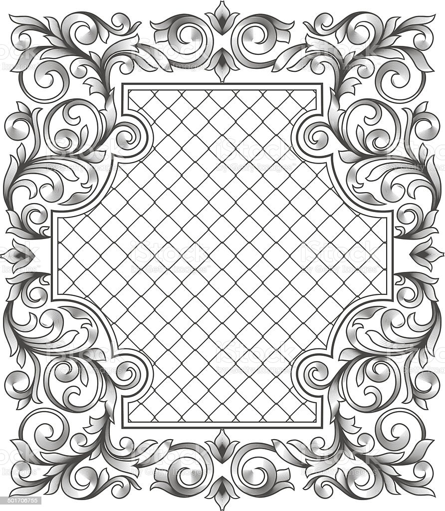 Vintage decorative blank royalty-free stock vector art