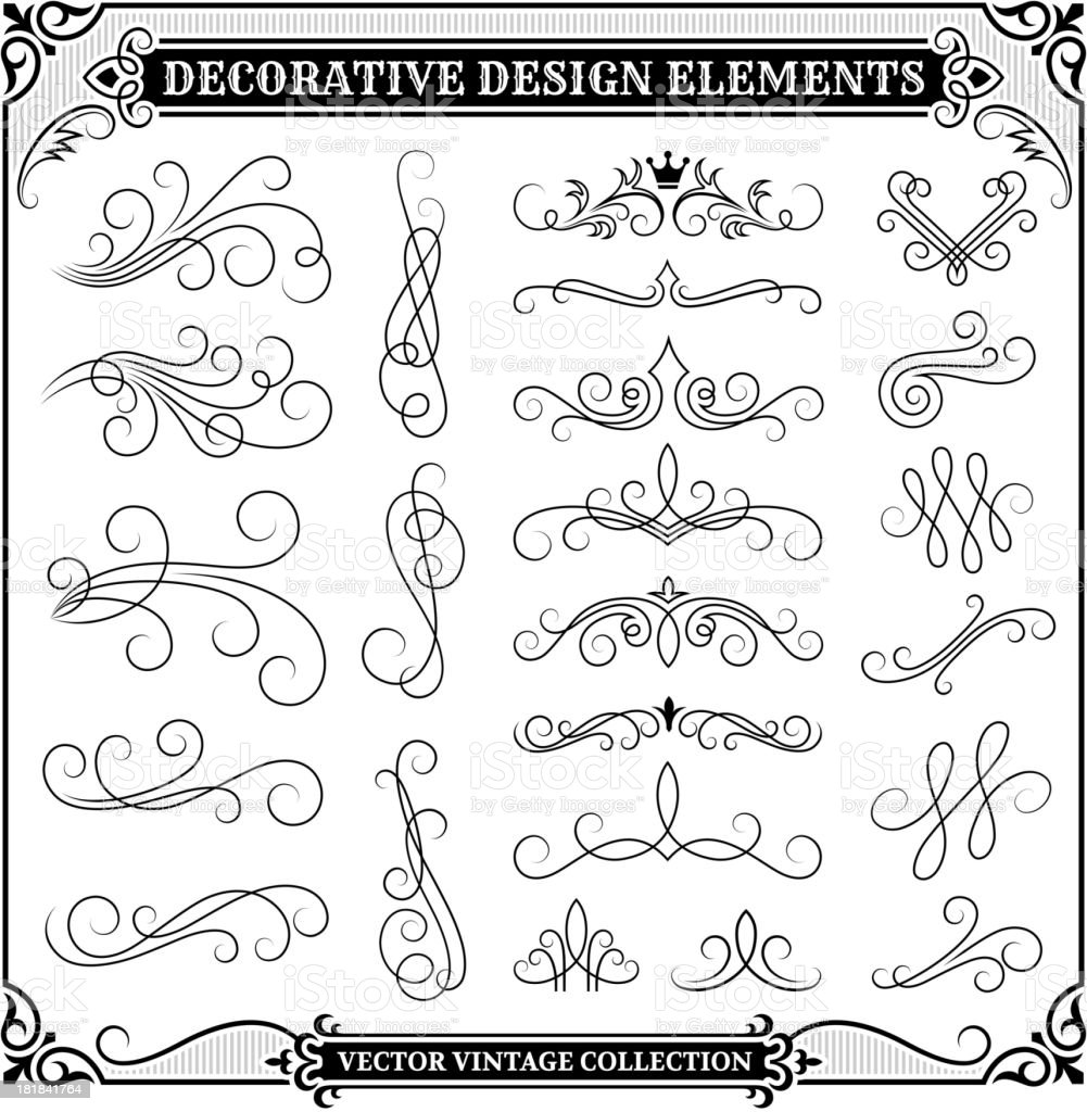 Vintage Decorative Design Elements Collection royalty-free stock vector art