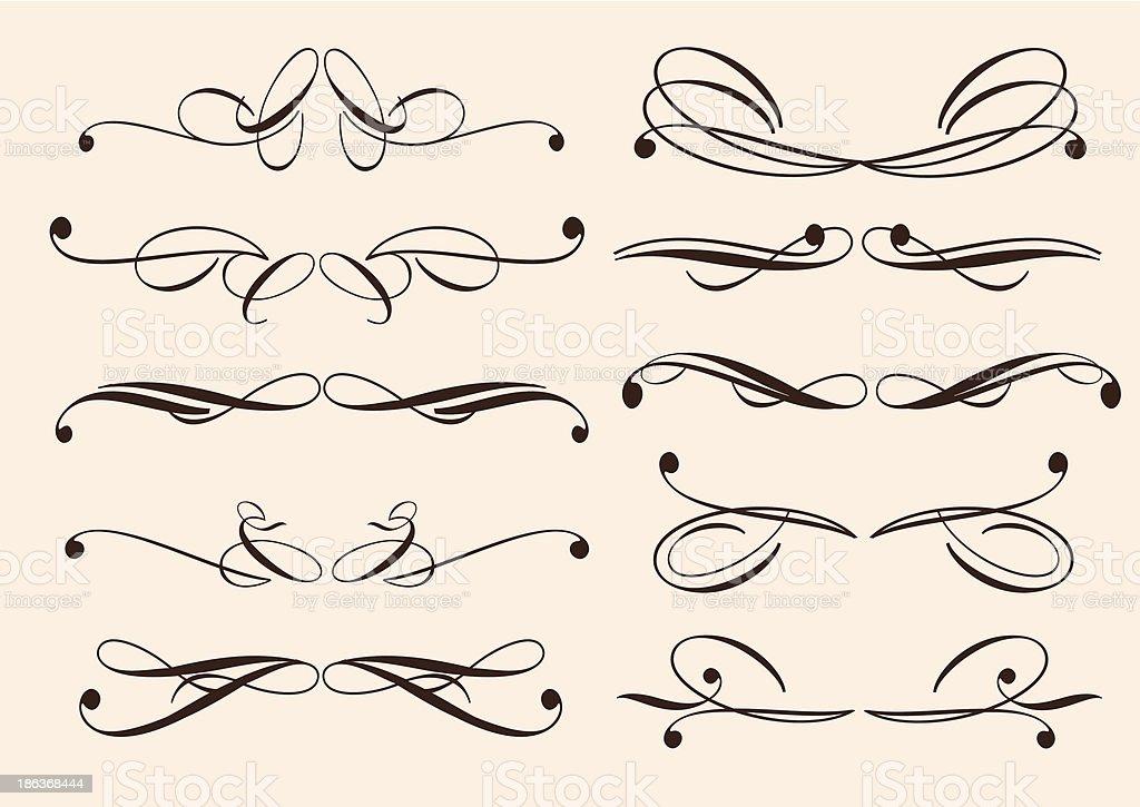Vintage decorative design elements royalty-free stock vector art