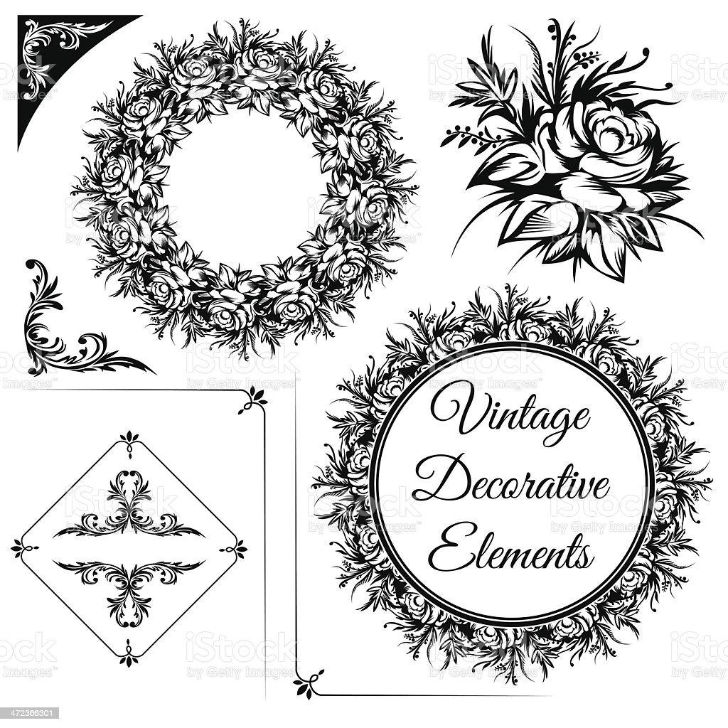 Vintage decorative elements royalty-free stock vector art